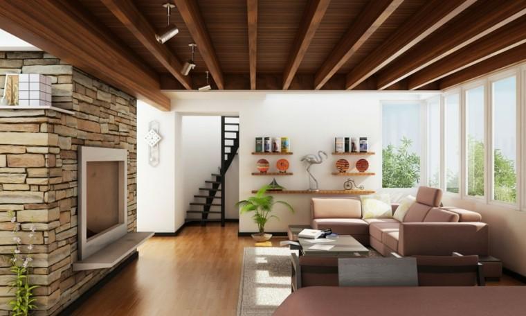 diseno-interiores-techo-madera